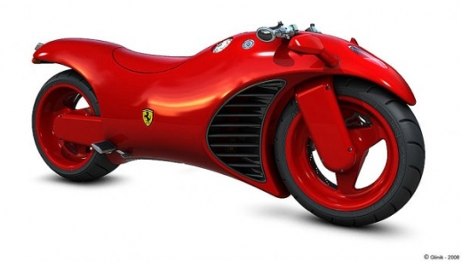 Red Motorcycle from Ferrari