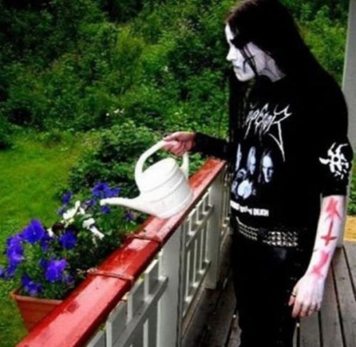 Gothic Watering The Flower