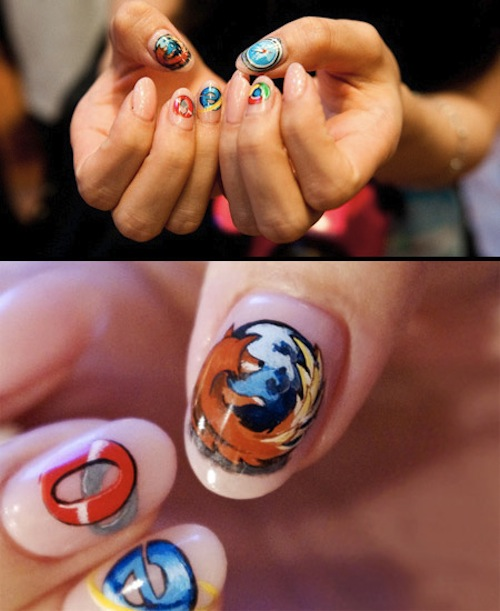 Browser Nail Art