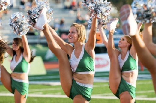 High Kicking Cheerleaders