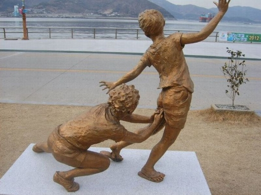 Statue of Boys Playing